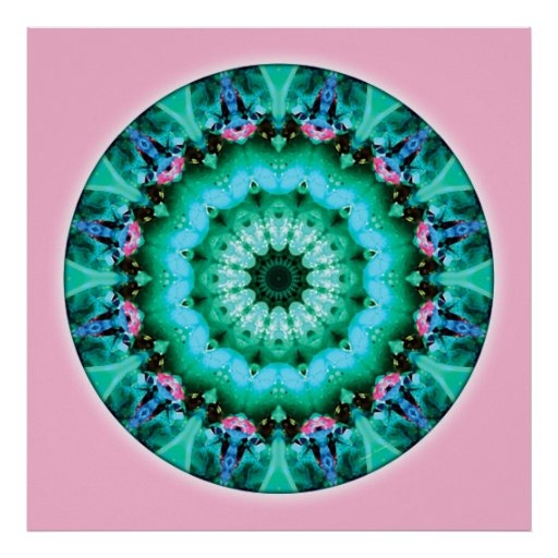 Mandalas from the Heart of Transformation, No. 5 Poster
