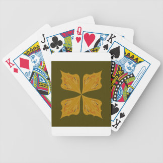 Mandalas gold on olive bicycle playing cards