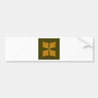 Mandalas gold on olive bumper sticker