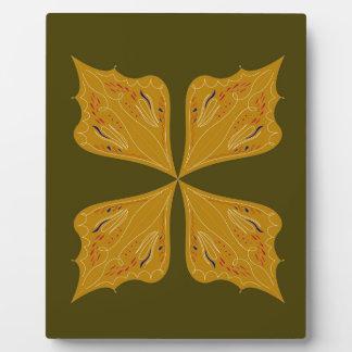 Mandalas gold on olive plaque