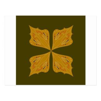 Mandalas gold on olive postcard