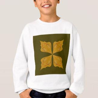 Mandalas gold on olive sweatshirt
