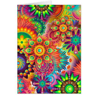 Mandalas Hypnotic Art Thinking Of You Friend Card