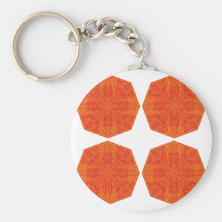 Mandalas : Nostalgia edition Orange Basic Round Button Key Ring