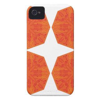 Mandalas : Nostalgia edition Orange iPhone 4 Case-Mate Cases