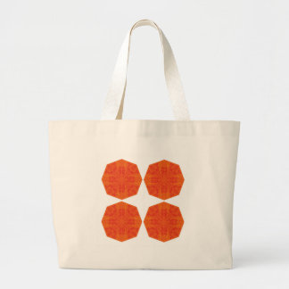 Mandalas : Nostalgia edition Orange Large Tote Bag