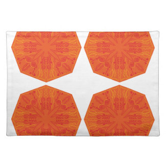 Mandalas : Nostalgia edition Orange Placemat
