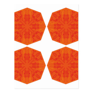 Mandalas : Nostalgia edition Orange Postcard