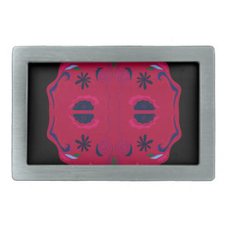 Mandalas wild Red ethno Belt Buckle