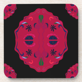Mandalas wild Red ethno Coaster