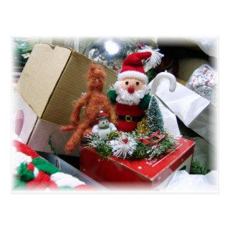 Mandarin and Santa Postcard