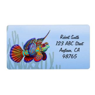 Mandarin Dragonet Fish Label