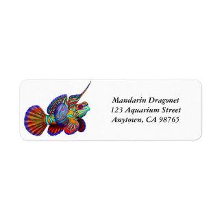 Mandarin Dragonet Goby Fish Label Return Address Label