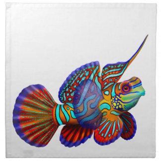 Mandarin Dragonet Goby Reef Fish Napkins