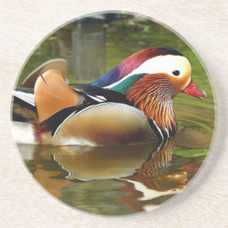 Mandarin Duck Beverage Coasters