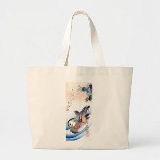 Mandarin Duck Japanese Print Jumbo Tote Bag