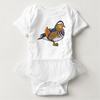 Mandarin Duck Sketch Baby Bodysuit