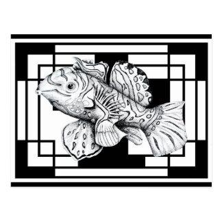 Mandarin Fish Postcard