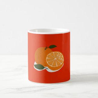 Mandarin orange coffee mug