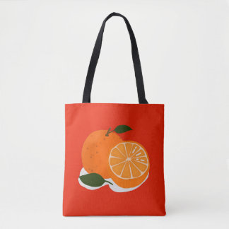 Mandarin orange tote bag