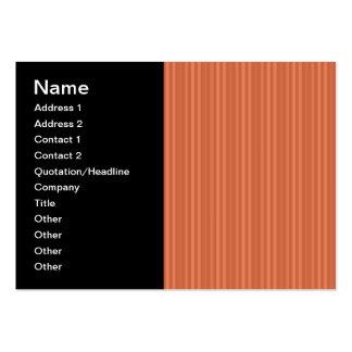 Mandarin Orange Vertical Stripes Business Cards