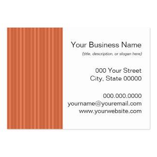 Mandarin Orange Vertical Stripes Business Card
