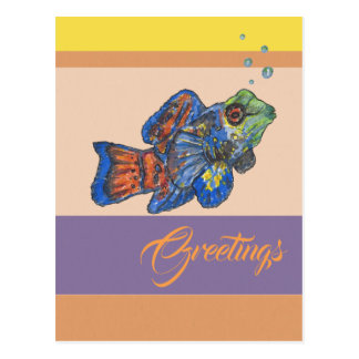 Mandarinfish Greetings Postcard
