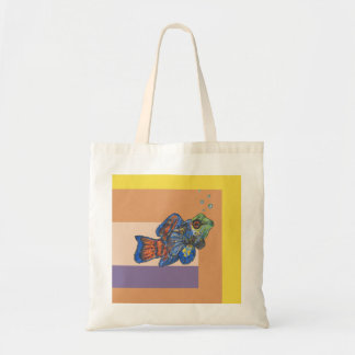 Mandarinfish Illustration Tote Bag