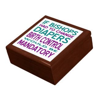 Mandatory Birth Control 2 Large Square Gift Box
