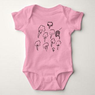 mandelbrocc set for baby baby bodysuit