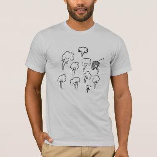 mandelbrocc set on silver T-Shirt