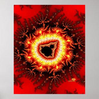 Mandelbrot's Menorah Poster