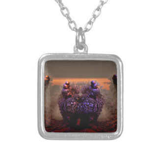 Mandelbulb-11 Silver Plated Necklace