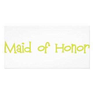 Mandi-MaidHonor-Ylw Personalised Photo Card