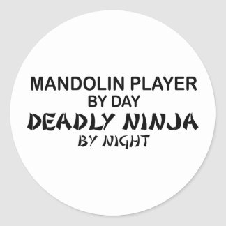 Mandolin Deadly Ninja by Night Classic Round Sticker