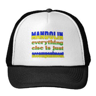 mandolin Everything else is just accompaniment Cap