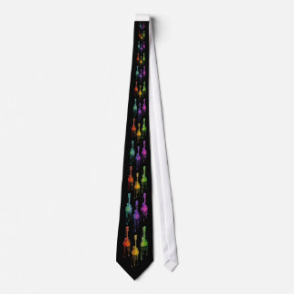 Mandolin Melting in Rainbow Colors Tie