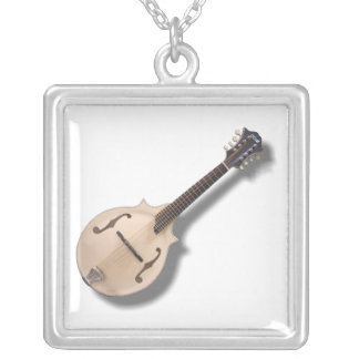 MANDOLIN-NECKLACE SILVER PLATED NECKLACE