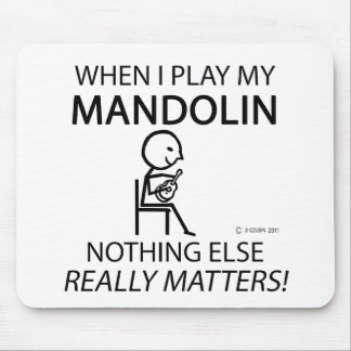 Mandolin Nothing Else Matters Mouse Pad