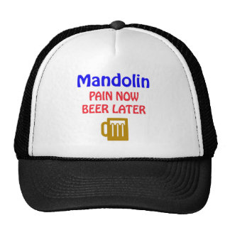 mandolin Pain now beer later Cap