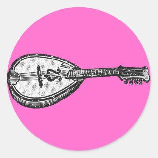 Mandolin Round Sticker