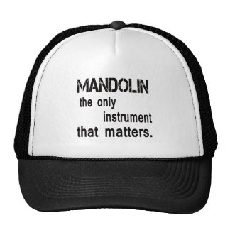 mandolin the only instrument that matters. cap