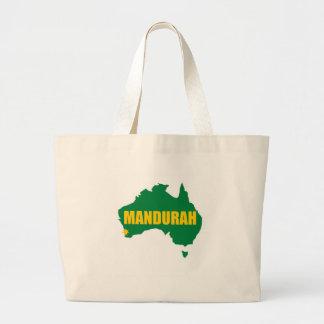 Mandurah Green and Gold Map Tote Bags