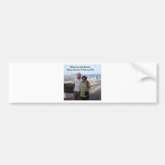 Mandy and John Weddding Souvenirs Bumper Sticker