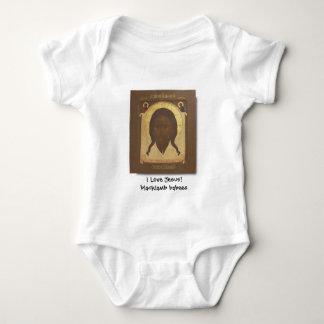 Mandylion Christ, I Love Jesus!blacklamb babees Baby Bodysuit