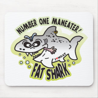 Maneater Fat Shark Mouse Pad