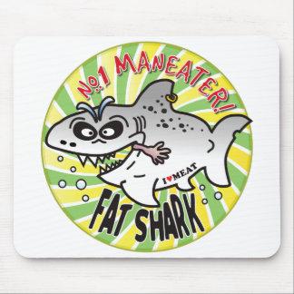 Maneater Fat Shark Mousepad