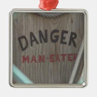 ManEater Metal Ornament