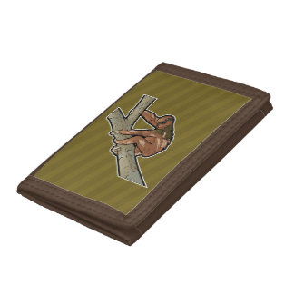 Maned Three Toed Sloth Tri-fold Wallet