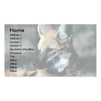 Maned wolf, close-up business card templates
